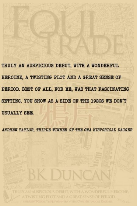 Andrew Taylor on Foul Trade by BK Duncan