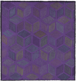Pastel of purple boxes by Ruth Wade