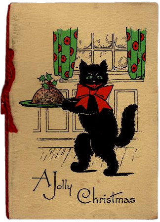 A Jolly Christmas 1930's Christmas card. Ruth Wade author collection