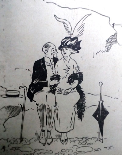1913 Both Awkward cartoon. Ruth Wade