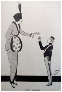 Cartoon from 1913 periodical. Ruth Wade