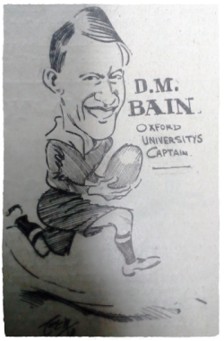 Rugby player David McLaren Bain. 1913