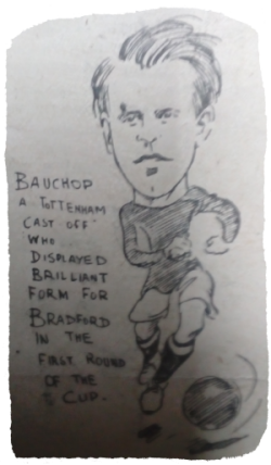 Footballer Jimmy Bauchop. 1914