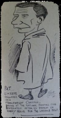 Boxer Pat O'Keefe. 1914