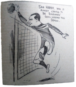 Goalie Sam Hardy. 1913