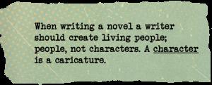 Writing secrets. Creating characters. Hemingway.