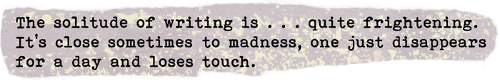 Words on Writing. Quotation from Nadine Gordimer. The deep stuff by Ruth Wade
