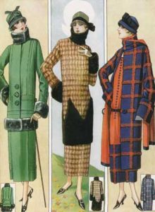 1920's fashion. Ruth Wade. Three outdoor outfits