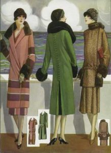 1920's fashion. Ruth Wade. Three outfits for cold sea voyage