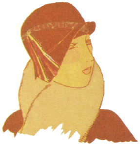 1920's hats. Orange segments hat. Research Ruth Wade