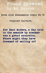 Found Drowned book club discussion topics: 16 popular culture in 1920