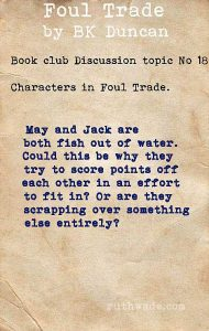 Foul Trade book club discussion topics: 18 characters