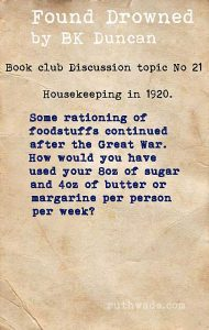 Found Drowned book club discussion topics: 21 housekeeping in 1920