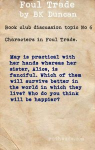 Foul Trade book club discussion topics: 6 characters