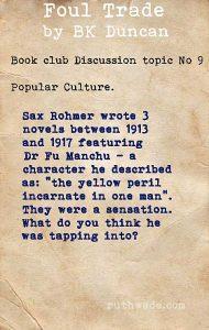 Foul Trade book club discussion topics: 9 popular culture