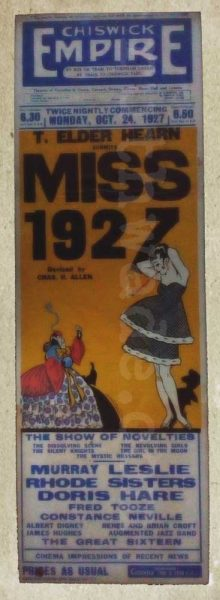 Chiswick Empire playbill 1927.