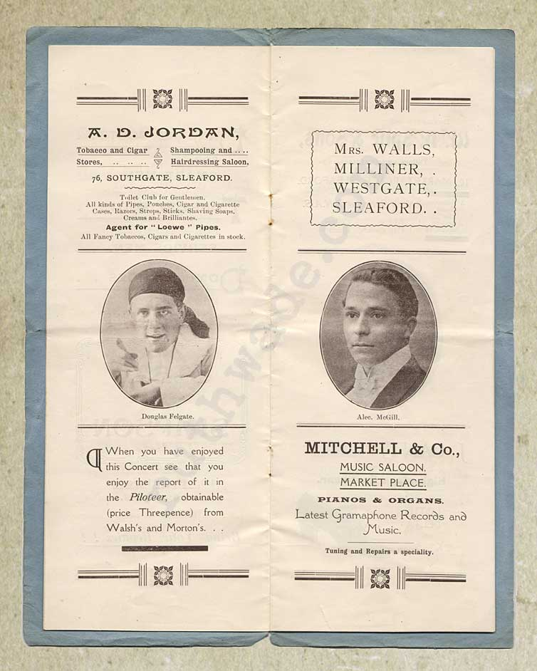 1918 programme for variety show for St Dunstan's page 3