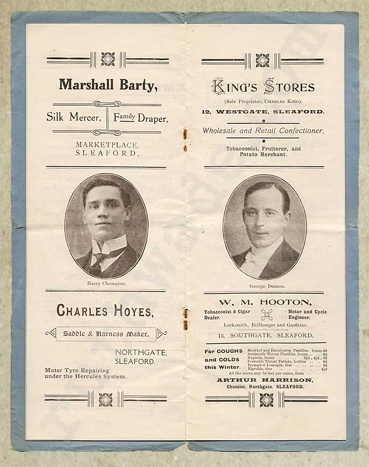 1918 programme for variety show for St Dunstan's page 6