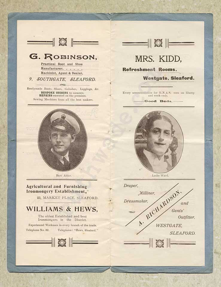 1918 programme for variety show for St Dunstan's page 8