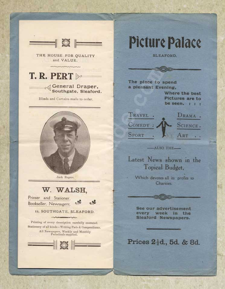 1918 programme for variety show for St Dunstan's page 9