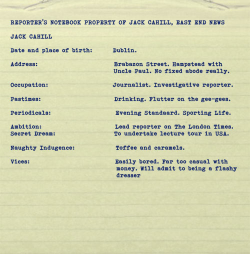 Foul Trade by BK Duncan. Character dossier: Jack Cahill
