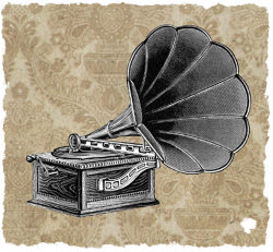 Vintage gramophone. Researching novels by Ruth Wade / BK Duncan