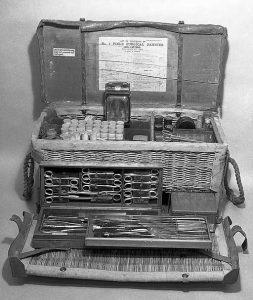 Vintage medical field kit. Wellcome foundation.