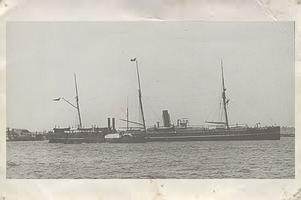 Steam ship in River Thames