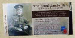 Ticket for WWI Centenary Commemoration in Harrogate Library 10/11/2018