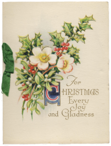 1930's Christmas card. Ruth Wade author collection