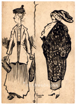 Sketch from 1912. Ruth Wade collection