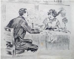 1913 cartoon. Annual income. Ruth Wade
