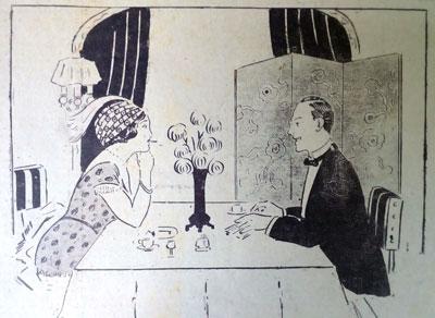 1913 cartoon. Diplomatic. Ruth Wade