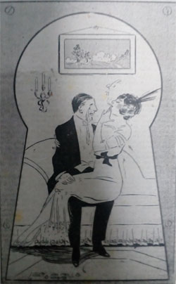 1913 cartoon. Sitting it out. Ruth Wade