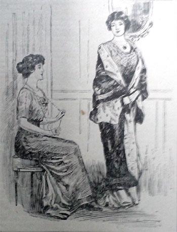 1914 cartoon. Friendship. Ruth Wade