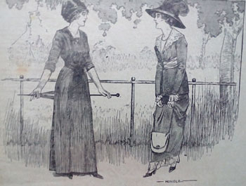 1914 cartoon. Shabby treatment. Ruth Wade