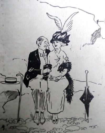 1913 Both Awkward cartoon. Ruth Wade
