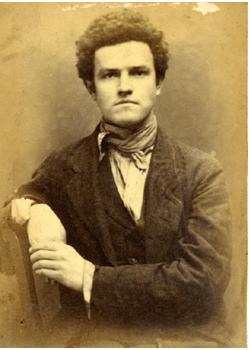 Street criminal. Police photo circa 1890s