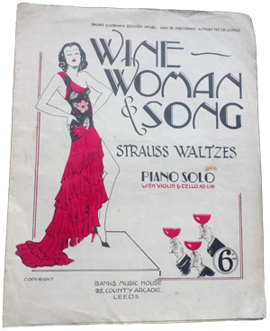 Wine Women & Song original music sheet