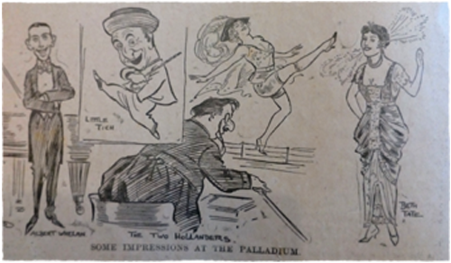 Cartoon from 1914 periodical. Ruth Wade