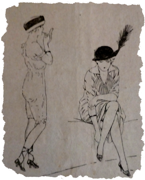 Flappers from 1913 periodical. Ruth Wade