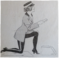 Shoeshine girl from 1914 periodical. Ruth Wade