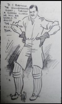 Cricketer Douglas Robinson. 1913