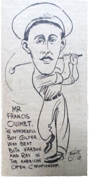 Golfer Francis Ouimet. 1913