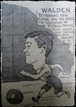 Footballer Fanny Walden. 1913