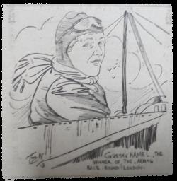 Aviator Gustav Hamel. 1913