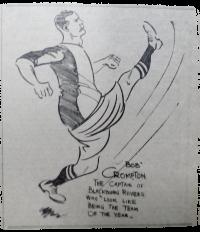 Footballer Bob Crompton. 1913