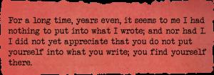 Writing secrets from Alan Bennett. The writer as artist by Ruth Wade