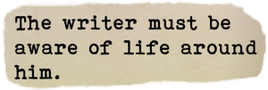 Words on writing. Quotation by Dorothy Parker. The deep stuff from Ruth Wade