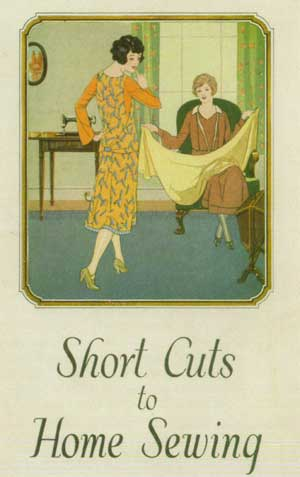 1920's fashion. Ruth Wade. Home cuts to sewing